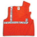 Tingley 5 Point Breakaway, Polyester Mesh, Hook & Loop Closure, Class 2 High Visibility Vests Fluorescent Orange-Red