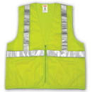 Tingley Polyester Mesh, Zipper Closure, Class 2 High Visibility Vests Fluorescent Yellow-Green