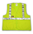 Tingley 6 5 ounce, 55% Modacrylic/45% Cotton Blend - Solid, FR Hook & Loop Closure, Class 2 High Visibility Vest