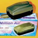 Million Air Ma - 400 Double Outlet Air Pump With Variable Flow Control Knob