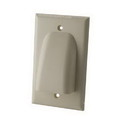 Vanco Low Profile Bundled Cable Wall Plate - Ivory, VANWPBWIX