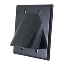 Vanco Dual Bulk Cable Wall Plate - Black, WPBW2BX