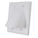 Vanco Dual Bulk Cable Wall Plate - White, WPBW2WX