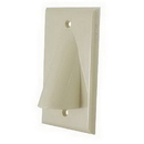 Vanco Bulk Cable Wall Plate - Ivory, WPBWIX