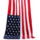 TopTie Beach Towel, American Canadian British Flag Pattern Bath Pool Sauna Towel