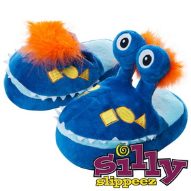 Silly Slippeez 80-78749-S Mr. Monster - Glow in the Dark - Small
