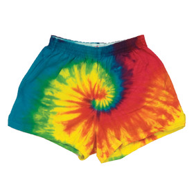 Colortone Juniors Reactive Rainbow Tie Dye Shorts - T353R