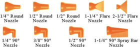 "LOC-LINE USA 9259871 2-1/2"" Flare Nozzles 20 Pack"