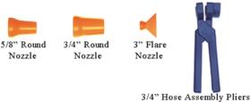 "LOC-LINE USA 9269542 3/4"" Round Nozzles 50 Pack"