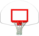 Trigon Sports BBFT Fan-Shape Steel Backboard w/ Target