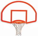 Trigon Sports BBRTB Fan-Shaped Rear Mount Backboard w/ Target & Border