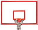 Trigon Sports BBSRTB Steel Rectangular Backboard w/ Target & Border