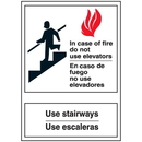 Seton Polished Plastic Office Signs - In Case of Fire - 07996