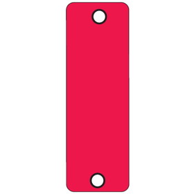 "Seton 19047 3"" x 9"" Reflective Rectangular Delineators, Red Engineer Grade Reflective Aluminum Delineator, Price/Each"