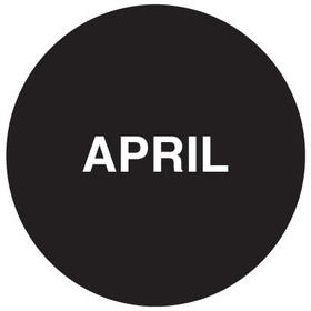 """Seton 20746 Inventory Month Dots, Wording: April, Size: 3"""" Dia., Price/500/Roll"""