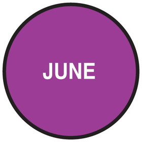 "Seton 20748 Inventory Month Dots, Wording: June, Size: 3"" Dia., Price/500/Roll"