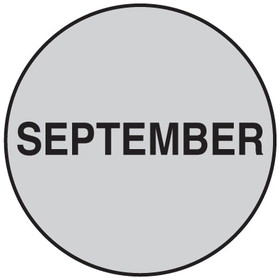 "Seton 20751 Inventory Month Dots, Wording: September, Size: 3"" Dia., Price/500/Roll"