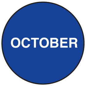 "Seton 20752 Inventory Month Dots, Wording: October, Size: 3"" Dia., Price/500/Roll"