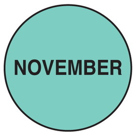 "Seton 20753 Inventory Month Dots, Wording: November, Size: 3"" Dia., Price/500/Roll"