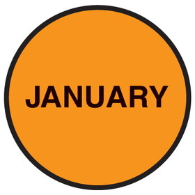 "Seton 20769 Inventory Month Dots, Wording: January, Size: 3"" Dia., Price/500/Roll"