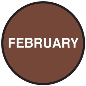 "Seton 20770 Inventory Month Dots, Wording: February, Size: 3"" Dia., Price/500/Roll"