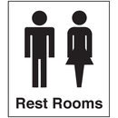Seton Polished Plastic Office Signs - Rest Rooms - 25655