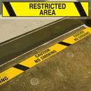 Seton Printed Warning Tapes - Restricted Area - 26824