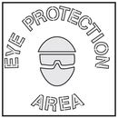 Seton Safety Stencils - Eye Protection Area - 28894