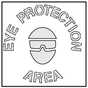 Seton 28894 Safety Stencils - Eye Protection Area, Price/Each