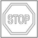 Seton Safety Stencils - Stop - 28897