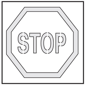 Seton 28897 Safety Stencils - Stop, Price/Each