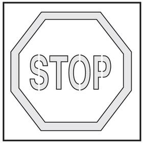 Seton 28897 Safety Stencils - Stop, Price/Each