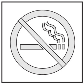 Seton 28901 Safety Stencils - No Smoking Symbol, Price/Each