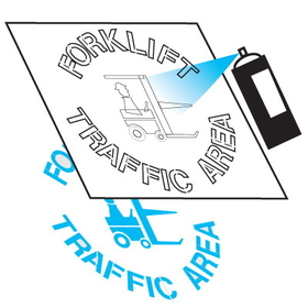 Seton 28902 Safety Stencils - Forklift Traffic Area, Price/Each