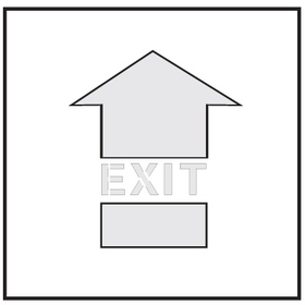 Seton 28904 Safety Stencils - Exit, Price/Each