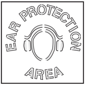 Seton 28905 Safety Stencils - Ear Protection Area, Price/Each