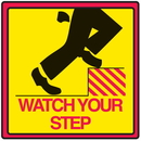 Seton Safety Traffic Cone Accessories - Watch Your Step - 29374