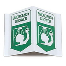 Seton 3-Way View First Aid Safety Signs - Emergency Shower - 45779