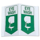 Seton 3-Way View First Aid Safety Signs - Eye Wash - 45780