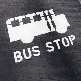 Seton 62630 School Bus Stop Stencil, Bus Stop Stencil, Price/Each