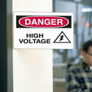 Seton 3-Way View Safety Signs - Danger - High Voltage - 62712