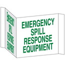 Seton 3-Way View Spill Control Signs - Emergency Spill Response Equipment - 68218