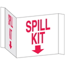 Seton 3-Way View Spill Control Signs -Spill Kit - 68221