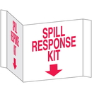 Seton 3-Way View Spill Control Signs - Spill Response Kit - 68223