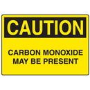 Seton 73146 OSHA Caution Signs - Carbon Monoxide May Be Present, Size: 10