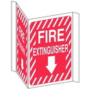 Seton 84497 Fire Extinguisher 3-Way View Fire Safety Signs