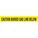 Seton 85499 Detectable Underground Warning Tape - Caution Buried Gas Line Below, Size: 2