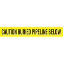 Seton 85501 Detectable Underground Warning Tape - Caution Buried Pipeline Below, Size: 2