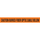 Seton Detectable Underground Warning Tape - Caution Buried Fiber Optic Cable Below - 85518