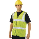 Seton 87497 Mesh ANSI Class 2 Safety Vests, Size: Medium